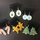 Porcelain Christmas Earrings
